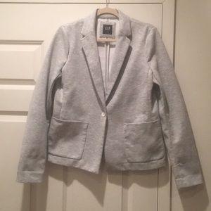 Gap Heathered Grey Sweatshirt Blazer - 10 Tall